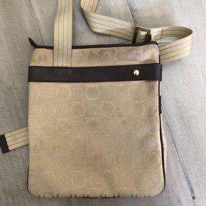 Salvatore Ferragamo Bags - Ferragamo canvas and leather trim crossbody